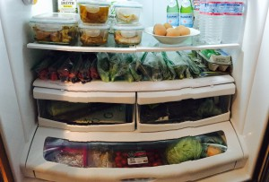 Portioned fridge