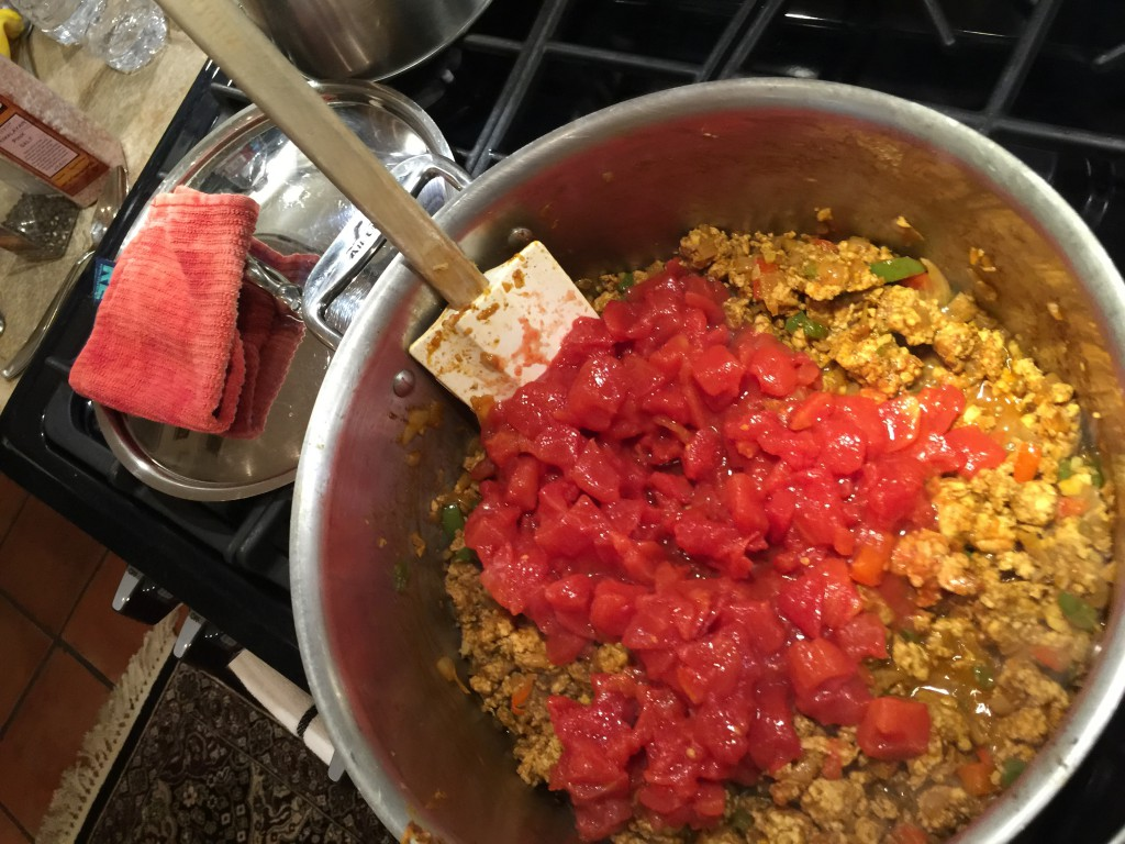 Adding Diced Tomatoes